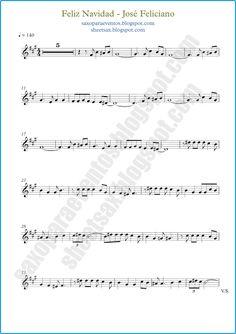 Partitura gratis de Feliz Navidad de José Feliciano   Partituras y pistas para…