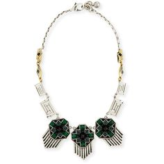 Lulu Frost Pyramid Cabochon Deco Necklace (€330) ❤ liked on Polyvore featuring jewelry, necklaces, silver, pyramid jewelry, art deco silver jewelry, silver chain jewelry, lulu frost necklace and cabochon necklace