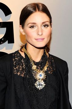 Olivia Palermo's slicked-back ponytail - celebrity hair and hairstyles