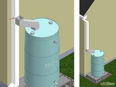Cómo construir un recolector de agua de lluvia paso a paso