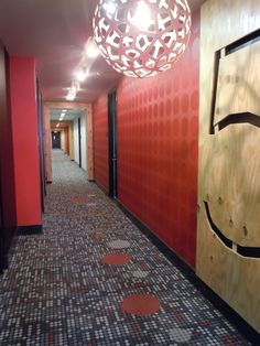 Great inspiration for corridors - Huge scale laser cut wall panels designating each floor Apartment Interior, Corridor, Condo, Flooring, House, Inspiration, Signage, Scale, Home Decor