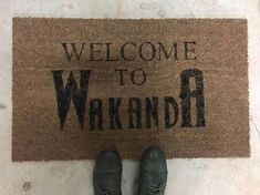 Welcome to Wakanda Doormat Extreme Weather, Black Panther, Welcome, Im Not Perfect, Marvel, Doormat, House, Etsy, Ideas