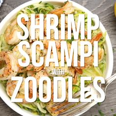 Zucchini Noodle Recipes, Zoodle Recipes, Seafood Recipes, Zucchini Noodles Shrimp, Recipe Zucchini, Chicken Zucchini, Chicken Pasta, Low Carb Recipes, Diet Recipes
