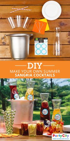 Summer's just around the corner and there's no better way to cool off than by relaxing with your own homemade summertime cocktails. Head to Party City to grab everything you need to make your outdoor garden party a hit—from ice buckets and drinking straws to disposable glasses and pitchers. For refreshing ideas on party food and drinks, shop PartyCity.com.