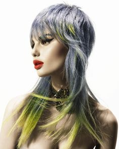 Rush Hair #rushhair #andyheasman #hairstyles #haircolor #colorhair #hairdye #окрашивание #цветныеволосы #прически Hair: Andy Heasman Styling: Bernard Connolly Make up: Kristina Vidic Photo: John Rawson