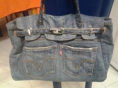 Borsa di jeans (modello hermes)