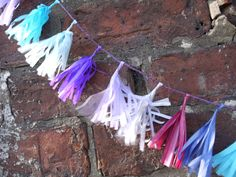 Feeling blue? What about purple or lilac then!? Custom tiny tassel garland Luxury handmade paper decor by Paper Street Dolls