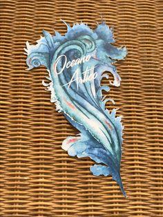 Blue Wave Table Card
