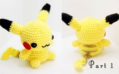 Pikachu Amigurumi Crochet Tutorial Part 1