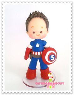 Topo de Bolo tema personalizado com herói desejado.  Feito sob encomenda  http://www.elo7.com.br/topo-personalizado-herois/dp/3FC343#mrrp=1