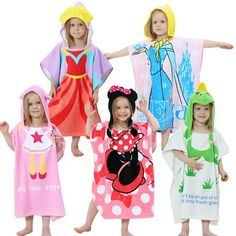 Jerry Fabrics Girls Towelling Hooded Bathrobe with Two Pockets Disney Frozen 4-6 Years