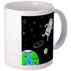 Space Walk Mugs Mugs, Space, Tableware, Travel, Floor Space, Dinnerware, Viajes, Tablewares, Mug