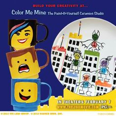 Color Me Mine is hosting a Kids' Night Out on February 14th from 6-8pm. Kids can paint their FAVORITE Lego characters on the fantastic Stacking Mugs to celebrate THE LEGO MOVIE. Ages 7+ Call the studio to prepay and preregister! 100 Evergreen Dr, Glen Mills, PA 19342