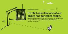 404 Page | Web Design | Inspiration