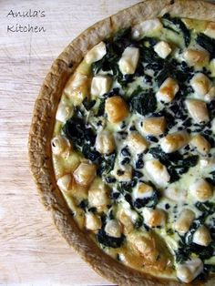 Spinach and goat's cheese tart... quiche....?