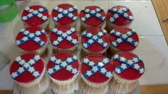 Rebel flag cupcakes