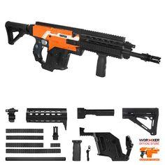 Nerf Mod, Sci Fi Weapons, Weapons Guns, Modified Nerf Guns, Cool Nerf Guns, Weapon Concept Art, 3d Prints, New School Year, Tactical Gear