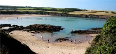 West Angle beach, right at the mouth of the Milford Haven estuary. Great for kayaking and wonderful rockpools.