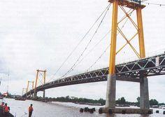 Bridge over Barito River, Banjarmasin, Indonesia