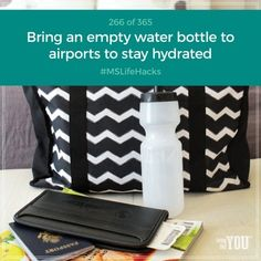 Make sure to bring your own empty water bottle to stay hydrated when traveling since liquids aren't allowed through airport security. #MSLifeHacks