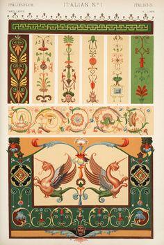 Jones, Owen, 1809-1874. / The grammar of ornament (1910)  [Italian ornament. Plates 86, 86*, 87, 88, 89, 90],   pp. PL. LXXXVI-PL. XC ff.