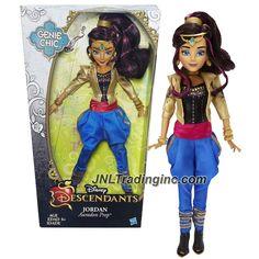 Hasbro Year 2015 Disney Descendants Genie Chic Series 12 inch Doll - Auradon Prep JORDAN with Earrings and Choker Necklace