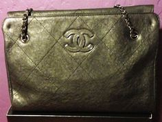 Chanel Black Hampton Tote Bag