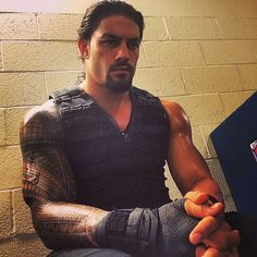 Moments before heading to the ring for his interview, Roman Reigns concentrates backstage. #MainEvent #WWENetwork #WWE