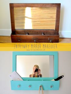 Make a mirror that can also hold keys or accessories.   21 Insanely Clever Ways To Create Space For Your Room