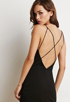 Strappy Back Bodycon Dress   Forever 21 - 2000172525