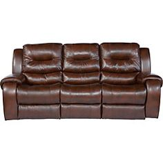 Shop For A Gavino Leather Power Reclining Sofa At Rooms To Go - Blended leather sofa