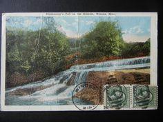 Shaunnessy's Fall. Gilmore Creek in Winona, Minnesota postcard www.visitwinona.com