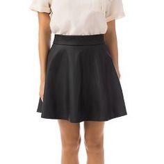 Women's Faux Leather Skirt - Fashion Union