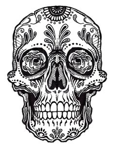 Skull Tattoo Line Art | Jos Gandos Coloring Pages For Kids - ClipArt Best - ClipArt Best