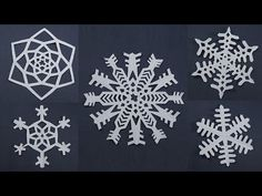 10 Awesome Paper Snowflake Patterns for Christmas Decorations - Easy Paper Craft - YouTube