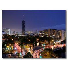 USA - Hawaii - Honolulu - Waikiki at Night