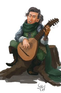 [RF] Dicolas Cage, gnome bard for /u/Nistleroy86 : characterdrawing