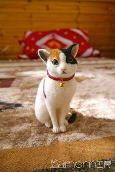 羊毛フェルト 新作情報 三毛猫|morin工房ー羊毛フェルト人形作家