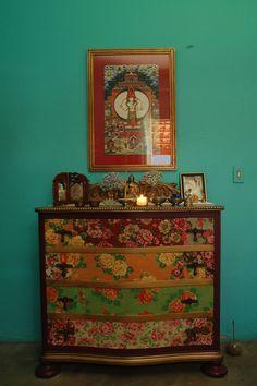 dresser drawers in different patterns!