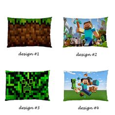 Minecraft Game Creeper Steeve World Pillow Case Cover by GoGeRiLLa, $14.90