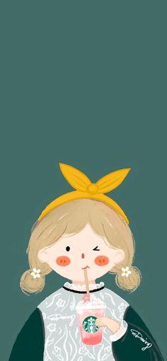 Phone Wallpaper Pastel, Cute Emoji Wallpaper, Iphone Background Wallpaper, Colorful Wallpaper, Cartoon Wallpaper, Dinosaur Illustration, Creative Illustration, Kawaii Cute Wallpapers, Cute Couple Wallpaper