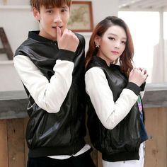 2015 Winter Autumn Baseball Jacket Full Leather Clothing Pu Leather Patchwork Couple Clothes Unisex Coat Plus Size Weight 0.9kg Shearling Jacket Leather Coats From Lin669, $62.72| Dhgate.Com