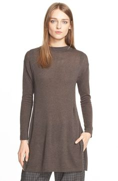 Eleventy Side Slit Knit Tunic Sweater available at #Nordstrom