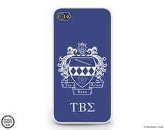 TBS, Tau Beta Sigma Sorority Outline Crest Cell Phone iPhone or Galaxy Case