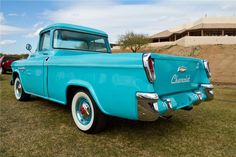 The same 1955 Chevy Cameo pickup. Note the taillights - this was the predecessor to the El Camino. Very rare truck.