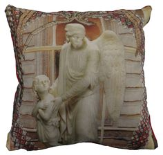The cushion is digitally printed and shows part of the famous story The Little Match Girl by Hans Christian Andersen Hans Christian, The Little Match Girl, Digital Prints, Fairy Tales, Cushions, Throw Pillows, Unique, Printed, Luxury