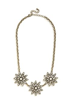 Brilliant Blossoms Necklace. Feel even more radiant this evening by slipping on this golden floral necklace!  #modcloth