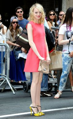 Emma Stone at the Calvin Klein spring/summer 2013 show in 2012