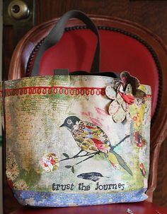 These are so great in person. Remind everyone you meet to trust as you adventure out into the world. (Artwork by Kelly Rae Roberts.) :: Trust The Journey Tote by Demdaco
