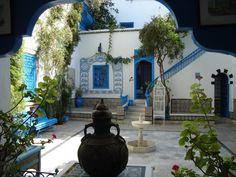 Riad, Dar el-Annabi in Sidi Bou Said, Tunisia